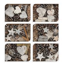 dd64a3528cb7 Κουτί με διάφορα φυσικά υλικά διακόσμησης 120gr σε καφέ λευκό χρ.